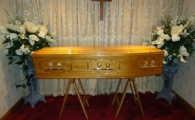 Mid Range Oak Panelled Coffin