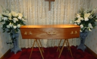 Veneered Mahogany Coffin