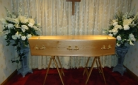 Veneered Oak Coffin